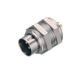Binder: 09-0077-00-03-Binder: Konektor 09-0077-00-03 Kruhový konektor M9, řada 711, IP40, zásuvka, montáž na panel, 3 kontakty, pájecí kolík, zástrčka, vyhovuje RoHS: Ano