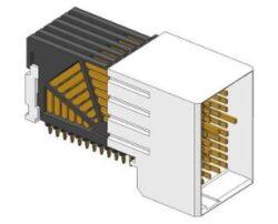 Backplane Connector: 10052825-101LF-FCI Amphenol Backplane Connector: 10052825-101LF  Connector AirMax VS VS2; 72pos. Right Angle Header