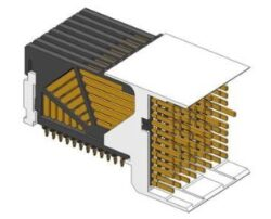 Backplane Connector: 10052837-101LF-FCI Amphenol: Backplane Connector: 10052837-101LF Connector AirMax VS VS2; 96pos. Right Angle Header