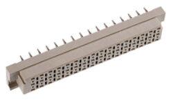 DIN konektor: 108-60084-EPT: DIN konektor: 108-60084  DIN 41612 E Female přímá Press-fit RM2,54mm, 48pin, délka pinu 4,60mm SPQ :17ks