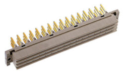DIN connector:110-66215 - EPT: DIN connector:110-66215  DIN 41612 E Female Straight Press-fit  RM2,54mm; 48pin, Termination lenght L=12,20mm  SPQ :18pcs Lost Pins ZBD 6,8,14,16,22,24,30