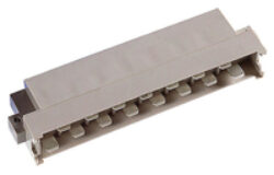 DIN konektor: 113-40061-EPT: DIN konektor: 113-40061 DIN 41612 H15 Male 90° letovací RM2,54mm, 15pin, délka pinu 3,00mm SPQ :10ks