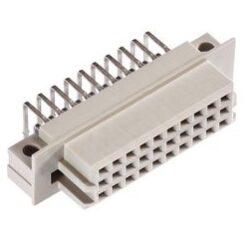 DIN konektor: 116-80064-EPT: DIN konektor: 116-80064  DIN 41612 Série Type R/3; 90°, 30 Kontaktů, Zásuvka, 2.54 mm, 3 Řady, a + b + c, pájecí