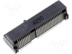 Konektor: 119A-80A00-R02-ATTEND: Konektor 119A-80A00-R02 PCI Express mini; vodorovné; SMT; zlacený; PIN: 52; 0,5A