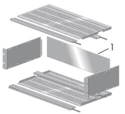 "Rack krabice 19"": ELMA 11A132-3-ELMA:  Rack krabice 19:  EMI sub-rack type 11 magic  3U/84HP/T=300mm ( 11A132-3 ); vodivá skříň (povrch)"