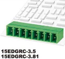 DEGSON: 15EDGRC-3.81-06P-14-00A(H)-DEGSON: 15EDGRC-3.81-06P-14-00A(H) Svorkovnice do DPS nasouvací 90° RM 3,81mm 6 pólové, zelená ~ Phoenix Contact MC1,5/6-6-3.81 ~ WE 691322310006 ~ TE 284513-6