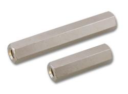 SW4-6mm-IN; M2,5 In/In L=6,0mm Brass-Distanční sloupek SW4-6,0mm-IN; M2,5; L=6,0mm 2xvniřvní  závit; Mosaz; Délka vnitřního závitu: 6,0mm