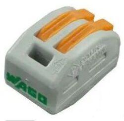 WAGO: Instalační rychlosvorka: WAGO 222-412-WAGO: Instalační rychlosvorka: WAGO 222-412; počet svorek 2; pružinová svorka; 0,08÷2,5mm2; 400V, 20A ~ SM C09 35034 02 WC