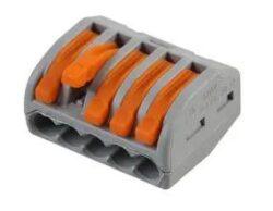 Instalační rychlosvorka: WAGO 222-415-WAGO: Instalační rychlosvorka: WAGO 222-415; počet svorek 5; pružinová svorka; 0,08÷2,5mm2; 400V, 32A ~ SM C09 35034 05 WC