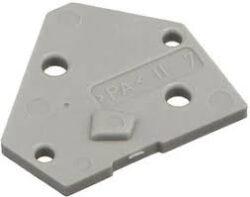 Koncový Kryt: SM C09 35014 End Plate grey-Schmid-M: Koncový Kryt SM C09 35014 End Plate grey, pro Použití se Svorkovnicemi, Šedý ~ WAGO 236-100