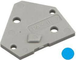 Koncový Kryt: SM C09 35014 End Plate blue-Schmid-M: Koncový Kryt SM C09 35014 End Plate blue, pro Použití se Svorkovnicemi, modrý ~ WAGO 255-400