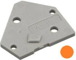 Koncový Kryt: SM C09 35014 End Plate orange-Schmid-M: Koncový Kryt SM C09 35014 End Plate orange, pro Použití se Svorkovnicemi, oranžový ~ WAGO 236-600