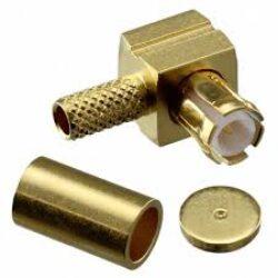 Vysokofrekvenční konektor:  MCX-1106-TGG-Schmid-M: Vysokofrekvenční konektor MCX: Vysokofrekvenční konektor MCX male/plug krimpovací na kabel; Huber+Suhner 16 MCX-50-1-7/111NH 23000443; Huber+Suhner 16 MCX-50-1-7/133NH 22658308
