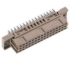 DIN konektor: 304-69064-02-EPT: DIN konektor: 304-69064-02 C/2 Female přímý Press-fit RM2,54mm, 48pin, délka pinu 4,6mm; SPQ:45