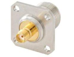 32K453-K00L5 Rosenberger-Rosenberger: 32K453-K00L5: RF adaptéry - mezi sériemi SMA JK na typ N JK 4 otvory příruba Adptr
