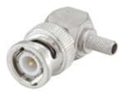 Coaxial Connector: 51S207-306N5 - Rosenberger: RF Coaxial Connector BNC Male/Plug Crimp For Cable R/A RG58 Rosenberger