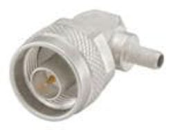 Vysokofrekvenční konektor: 53S205-306N5-Rosenberger: Vysokofrekvenční konektor N: Vysokofrekvenční konektor N male/plug krimpovací na kabel Rosenberger Right Angle RG58