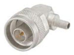 Vysokofrekvenční konektor: 53S205-306N5 Rosenberger-Rosenberger: Vysokofrekvenční konektor N: Vysokofrekvenční konektor N male/plug krimpovací na kabel Rosenberger Right Angle RG58