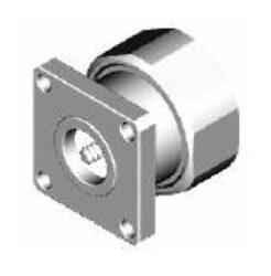 Vysokofrekvenční konektor: 716-3102-TSS-Schmid-M: Vysokofrekvenční konektor 7/16 male/plug panelový