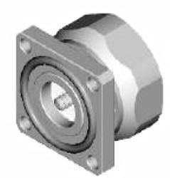 Vysokofrekvenční konektor: 716-3113-TSS-Schmid-M: Vysokofrekvenční konektor 7/16: VF konektory 7/16 male/plug panelový
