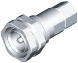 """Vysokofrekvenční konektor: 716-8123-TSS, cable 7/8""""-Schmid-M: Vysokofrekvenční konektor 7/16: VF konektory 7/16 male/plug pro vlnité (Corrugated)  kabely"""