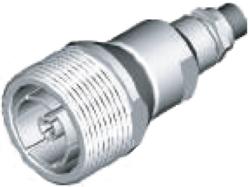 """Vysokofrekvenční konektor: 716-8202-TSS, cable 1/4""""-Schmid-M: Vysokofrekvenční konektor 7/16: VF konektory 7/16 female/jack pro vlnité (Corrugated)  kabely"""
