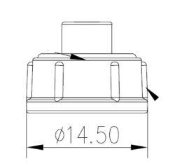 Vodotěsný  krytka: CHO 806-00055-00-Chogori: CHO 806-00055-00 Vodotěsný  krytka pro Mini série panelového zámku typu IP67