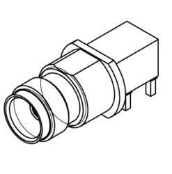 Vysokofrekvenční konektor: 85_MCX-50-0-16/111_NE-Huber+Suhner: Vysokofrekvenční konektor MCX female/jack do DPS 90°Huber Suhner