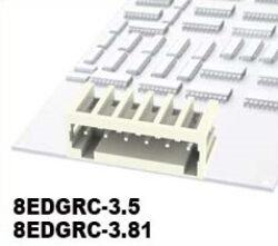 Svorkovnice do DPS nasouvací: 8EDGRC-3.5-02P-11-01AH-DEGSON: Svorkovnice do DPS nasouvací: 8EDGRC-3.5-02P-11-01AH RM:3,5mm. 2-pólová