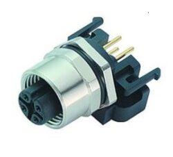 Binder 99-3442-458-05-Binder: 99-3442-458-05 Konektor M12, 5pinů  stíněný  do PCB, úhlový, IP68, UL