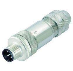 Binder 99-3729-810-04-Binder: 99-3729-810-04 Konektor M12-D, 4pinů  stíněným na kabel:6-8mm PLUG CAT 5 , IP68, UL