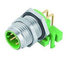 Binder 99-3731-202-04-Binder: Konektor M12-D, 4pinů  Plug do panelu IP67, UL
