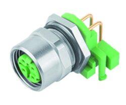 Binder: 99-3732-203-04-Binder: Konektor M12, 4piny  stíněný  do PCB, úhlový, UL