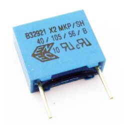 Kondenzátor: B32921C3104M289-TDK EPCOS: Kondenzátor MKP 0,1uF/305VAC/20% RM: 10mm; 6mmx12mmx13mm