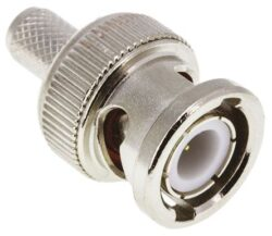 Coaxial Connector: BNC-1101-DGN-Schmid-M: Coaxial Connector BNC: RF Coaxial Connector BNC Male/Plug Crimp For Cable 58A, 141A; Huber+Suhner 11 BNC-50-3-4/133NE 22641268; Huber+Suhner 11 BNC-50-3-25/133NE 22540077
