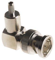 Vysokofrekvenční konektor: BNC-1112-TGN-Schmid-M: Vysokofrekvenční konektor BNC: Vysokofrekvenční konektor BNC male/plug krimpovací na kabel ,Teflon
