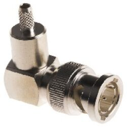 Coaxial Connector: BNC-1117-TGN - Schmid-M: Coaxial Connector BNC: R/A Crimp Plug/Male LMR240