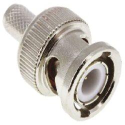 Vysokofrekvenční konektor: BNC-1118-TGN-Schmid-M: Vysokofrekvenční konektor BNC male/plug krimpovací na kabel 8281