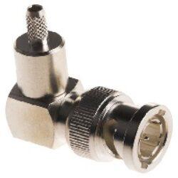 Coaxial Connector: BNC-1125-TGN-Schmid-M: R/A Crimp Plug/Male LMR400
