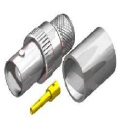 Vysokofrekvenční konektor: BNC-1216-TGN-Schmid-M: Vysokofrekvenční konektor BNC female/jack krimpovací na kabel  RG 213U
