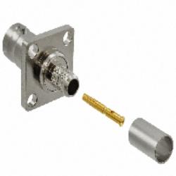 Vysokofrekvenční konektor: BNC-1222-TGN-Schmid-M: Vysokofrekvenční konektor BNC female/jack panelový RG 142U, 223U