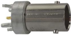 Vysokofrekvenční konektor: BNC-5201-TGN-Schmid-M: Vysokofrekvenční konektor BNC female/jack do DPS