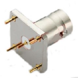 Vysokofrekvenční konektor: BNC-5206-TGN-Schmid-M: Vysokofrekvenční konektor BNC female/jack do DPS