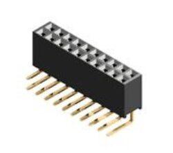 Zásuvka kolíková: CB91102H100-Cvilux: Zásuvka kolíková: CB91102H100  dvouřadá, RM2,54mm; 10pin, H=8,4mm