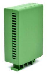 ELBAG CM 36/30 V-ELBAG: Plastová krabička na DIN lištu vertikální zelená 113x83x35