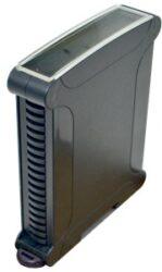 ELBAG CMX 38/22 CTR N-ELBAG: Plastová krabička na DIN lištu s=22,50mm černá; rozměry: karta (104,6x78x19,50mm), venkovní rozměry (119,15x97,56x22,70mm)