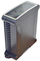 ELBAG CMX 38/35 CTR N-ELBAG: Plastová krabička na DIN lištu s=35mm černá; rozměry: karta (104,6x78x31,50mm), venkovní rozměry (119,15x97,56x35,00mm)