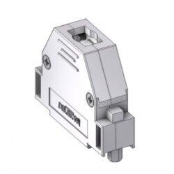 CTLM25RUN4-DELTRON D-Sub metallized hood 25P SPQ:100