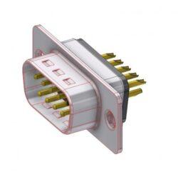 D09PZ/2FP102-DELTRON D-Sub filter-plug 9P/Male SPQ:88