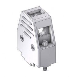 DCM09UN4-DELTRON D-Sub metallized hood 9P SPQ:100